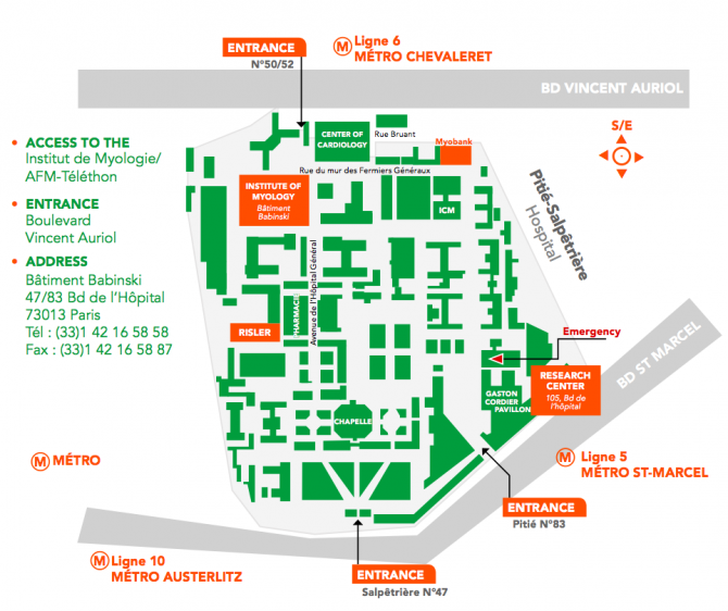 Institute of Myology access map
