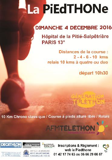 Téléthon 2016 - course la Piedthone